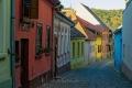 Gasse-Mittelalter-Sighisoara-Schaessburg-Rumaenien-Siebenbuergen-Transylvanien-RX_02892 Kopie