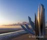 Mahnmal-Skulptur-Denkmal-Strand-Normandie-Morgenlicht-Morgenstimmung-Omaha-Beach-Frankreich-D-Day-Gedenkstaette-USA-US-Army-A_SAM4083