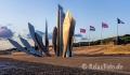 Mahnmal-Skulptur-Denkmal-Strand-Normandie-Morgenlicht-Morgenstimmung-Omaha-Beach-Frankreich-D-Day-Gedenkstaette-USA-US-Army-A_SAM4086